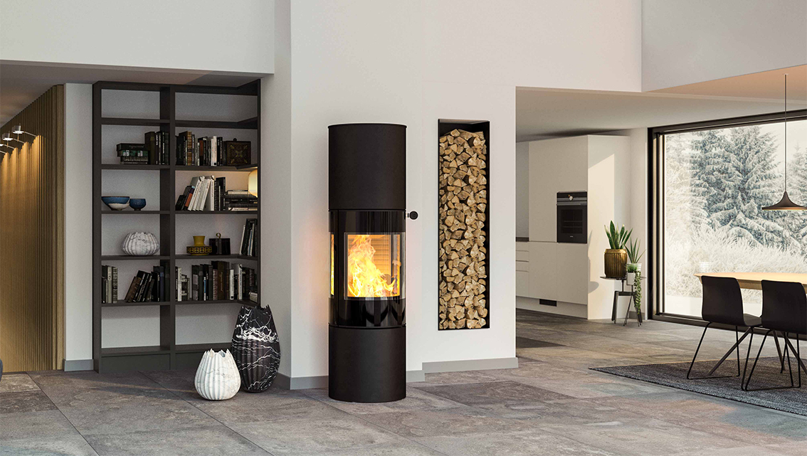 fliesen unter kaminofen wohn design. Black Bedroom Furniture Sets. Home Design Ideas